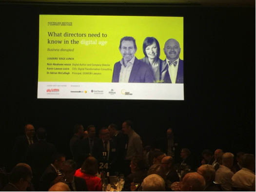 Speaker: Australian Institute of Company Directors Leaders' Edge Lunch – Business Disrupted
